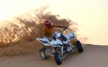Quad Bike Ride in the Desert