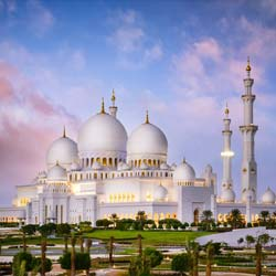 Grand Mosque visit in Abu Dhabi