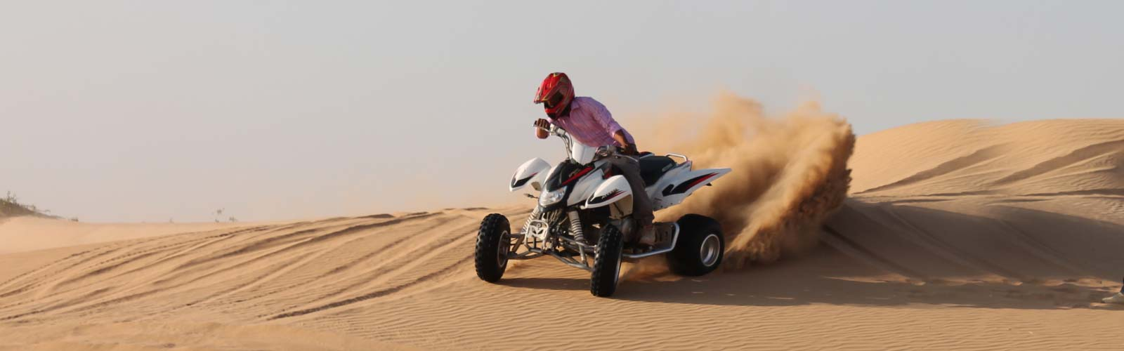 Quad Bike Riding in the Desert
